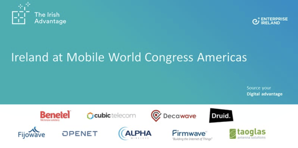 Irish firms advance smart connectivity at Mobile World Congress America
