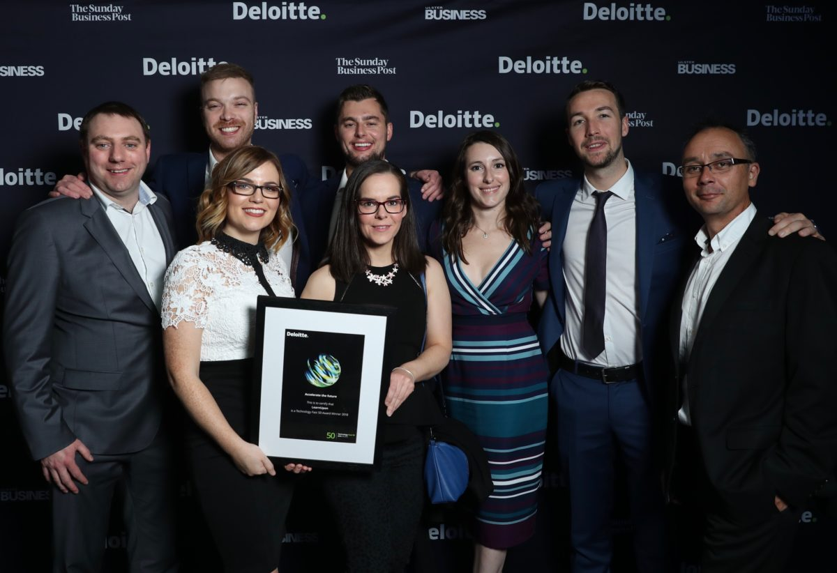 LearnUpon team is awarded sixth place at 2018 Deloitte Technology Fast 50 awards.