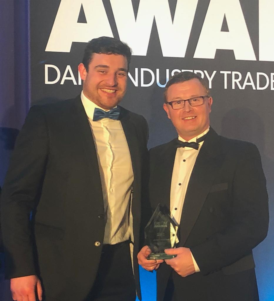 Innovation award goes to Dairymaster's Mission Control at British Dairying Cream Awards.