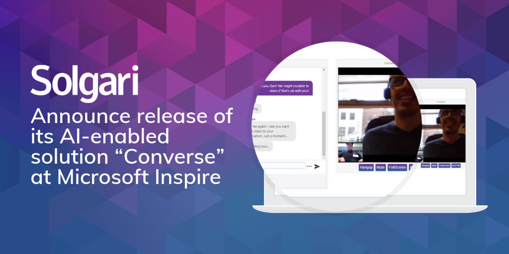 "Solgari announces release of its AI-enabled solution ""Converse"" at Microsoft Inspire"