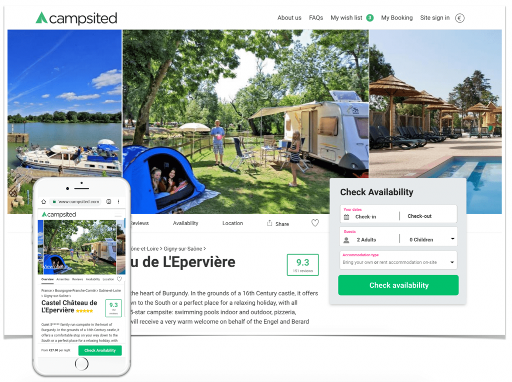 Campsited's journey to travel tech success